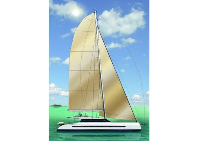 <strong>Open Ocean 740 Sailing Catamaran </strong><br>74 foot
