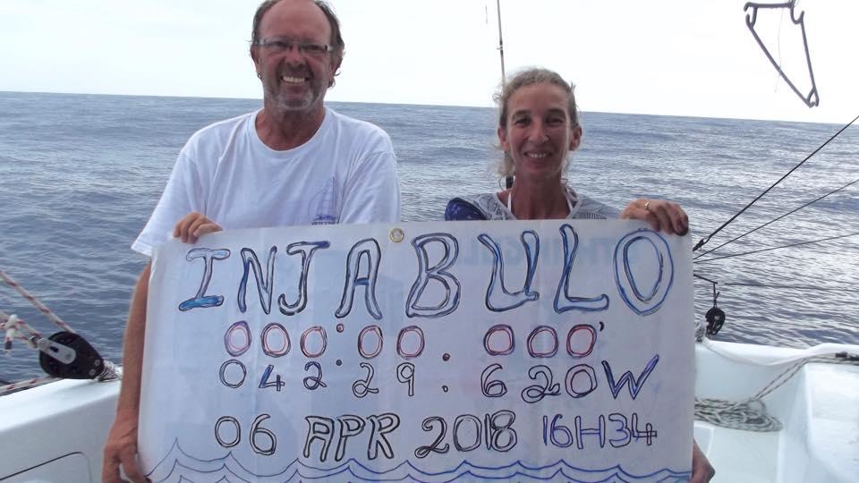 "Quest 50 Sailing Catamaran, ""Injabulo"", arrived in Barbados"