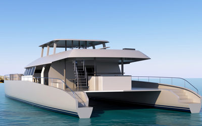 Multihulls World: South Africa's biggest composite power catamaran in build