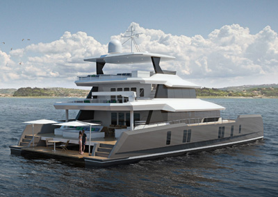 <strong>Two Oceans 870 Power Catamaran </strong><br>87.22 foot