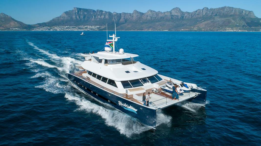 The Two Oceans 850E Power Catamaran is launched